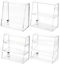 Clear Acrylic Slanted Front Locking Display Cases