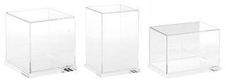 Clear Acrylic Display Cases with Clear Base