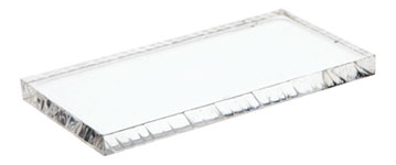 Acrylic Rectangular Standard-Edge Display Bases