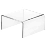Clear Acrylic Short Square Risers
