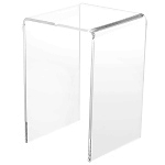 Clear Acrylic Tall Square Risers