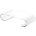 Clear Acrylic Scroll-Shaped Risers