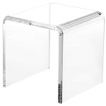 Clear Acrylic Beveled Square Risers