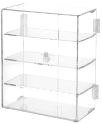 Clear Acrylic Rectangular Locking Display Cases