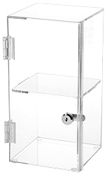 Clear Acrylic Front Opening Square Locking Display Cases