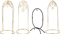 Oval and Arched Ornament Hanger Stands