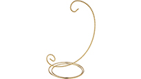 Gold Scroll Twisted Wire Ornament Stands