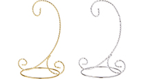 Twisted Wire Scroll Ornament Stands