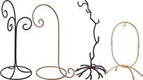 Wrought Iron Ornament Hanger Stands