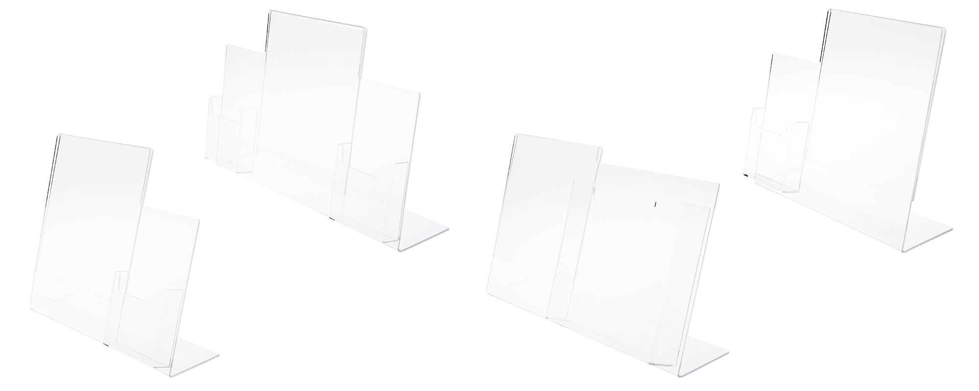 Acrylic Multi-Pocket Literature Displays