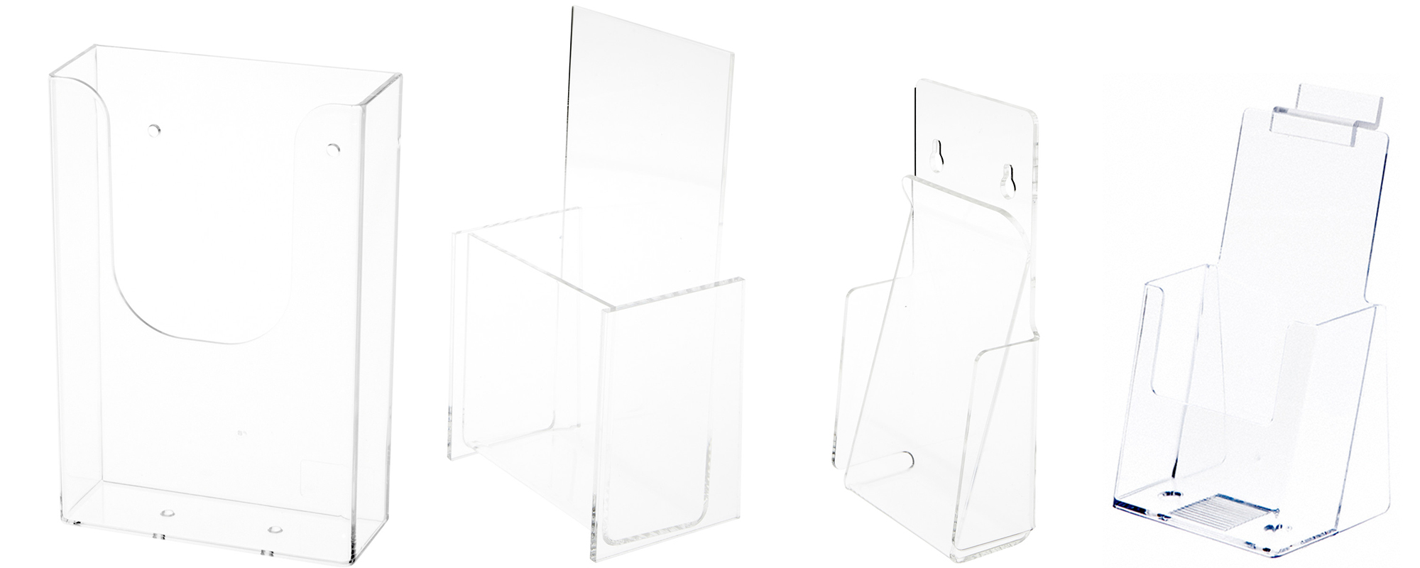"Tri-Fold Brochure Holders (Fits 4"" Wide Items)"