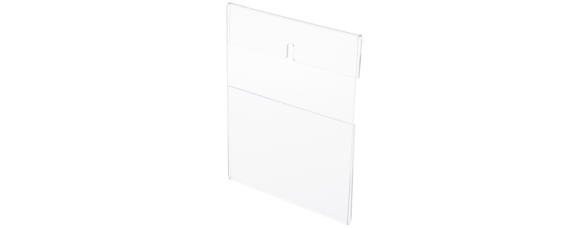 Wall-Mount Acrylic Top-Fold Sign Displays / Document Holders