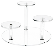 Clear Acrylic Round Base Risers