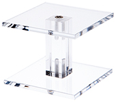 Acrylic Square Barbell Pedestal Risers