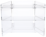 Clear Acrylic Portable Folding Three-Shelf Displays