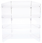 Clear Acrylic Portable Folding Four-Shelf Displays