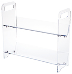Clear Acrylic 2 or 3 Shelf CD/DVD Display Shelving