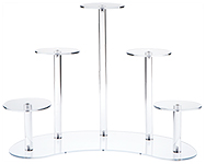Clear Acrylic Multi-Pedestal Riser Displays