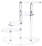 4-Shelf Clear Acrylic Spiral Display Riser