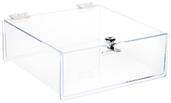 Clear Acrylic Locking Countertop Display Case