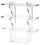 Clear Acrylic Vertical Interlocking Shelf Unit