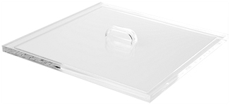 Acrylic Lid with Handles for Acrylic Cases