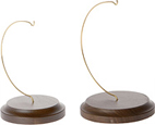 Wire Ornament Hanger Stands With Wood Bases