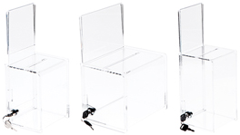 Acrylic Ballot / Collection Boxes with Sign Holder