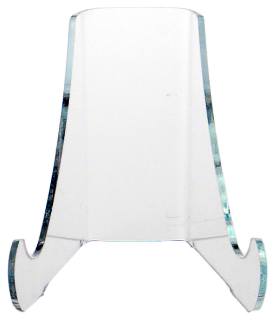 "Plymor Acrylic Flat Back Easel w// Deep Support Ledges 18/""H x 15.25/""W x 14.25/""D"