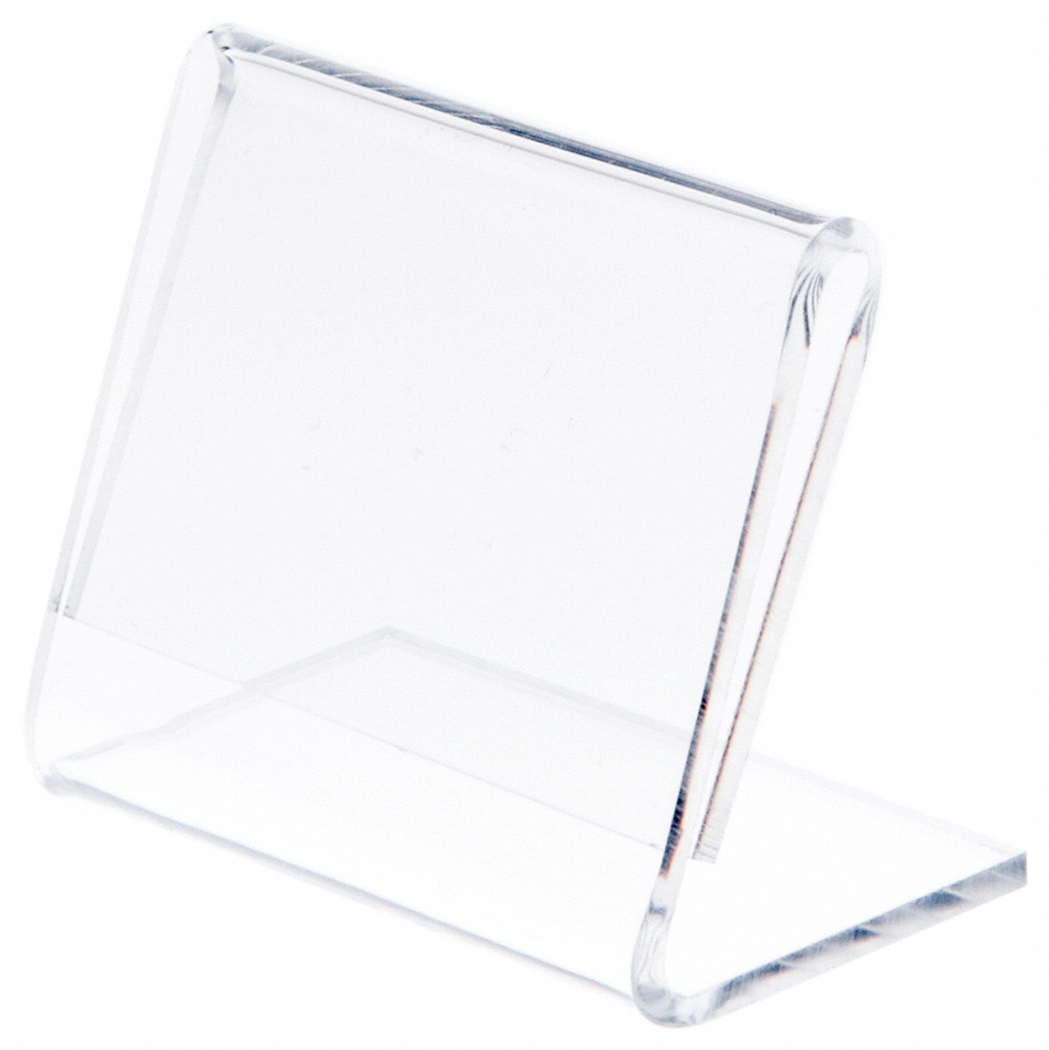 "Angled 3.5/"" W x 5.5/"" H Plymor Clear Acrylic Sign Display // Literature Holder"