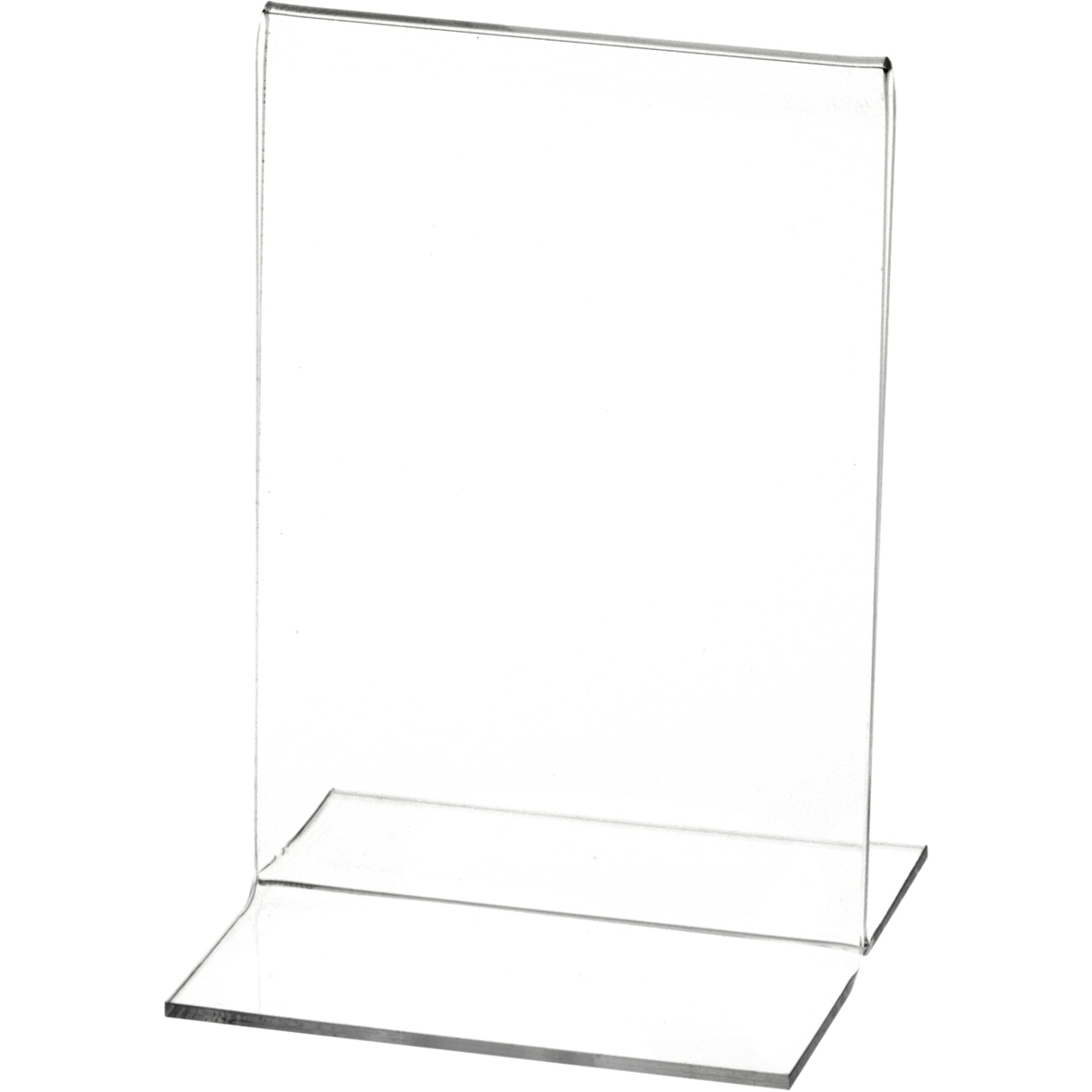 """Plymor Clear Acrylic Sign Display // Literature Holder 3/"""" W x 5/"""" H Side-Load"""