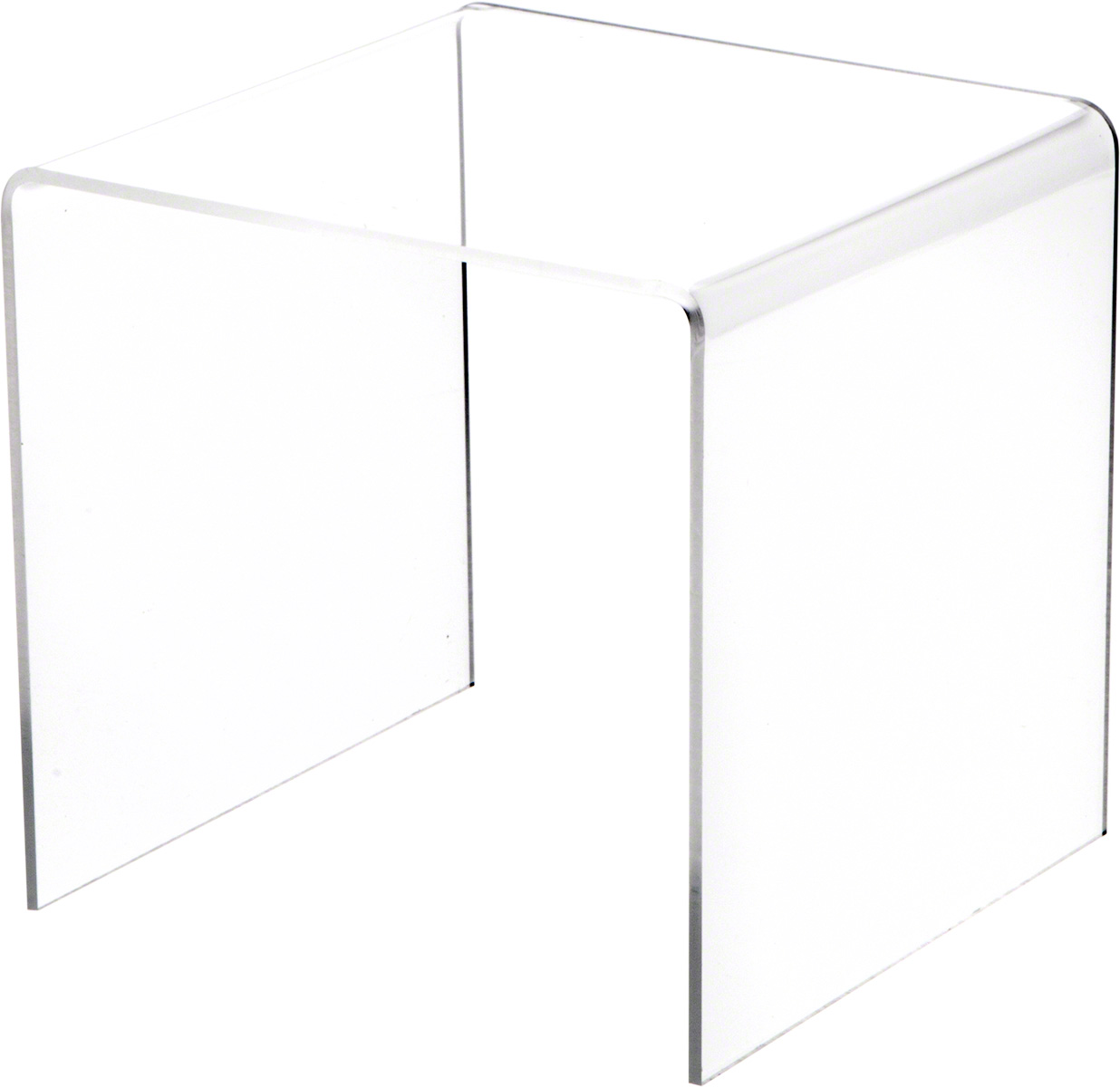 """1.5/"""" H x 3/"""" W x 3/"""" D Plymor Clear Acrylic Short Square Riser 1//8/"""" thick"""