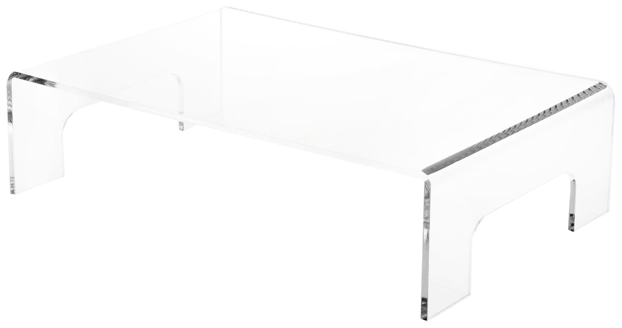 "1//4/"" thick 6/"" H x 9/"" W x 6/"" D Plymor Clear Acrylic Rectangular Display Riser"