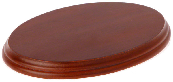 Wood Display Base Fruitwood Oval 75 Quot X 5 25 Quot X 7 25 Quot