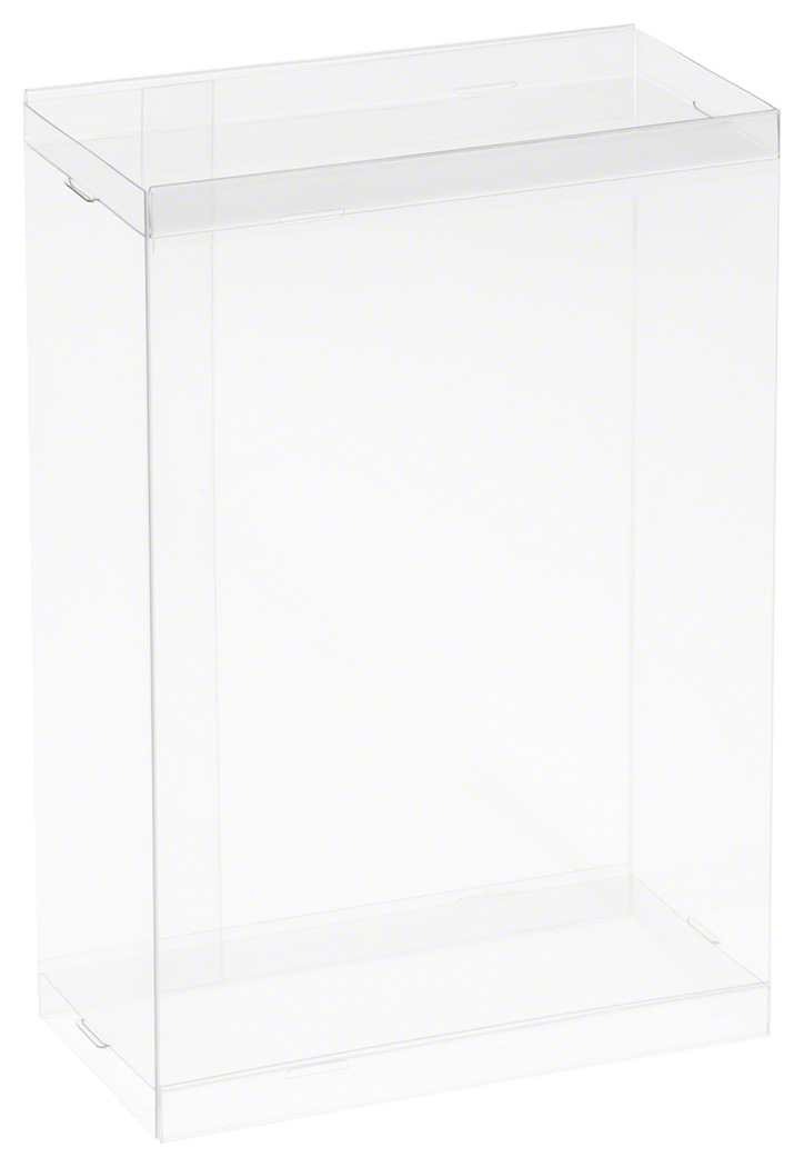 "10-Pack 4/""W x 2.25/""D x 8.5/"" H DollSafe Clear Folding Box for 7-8/"" Dolls"