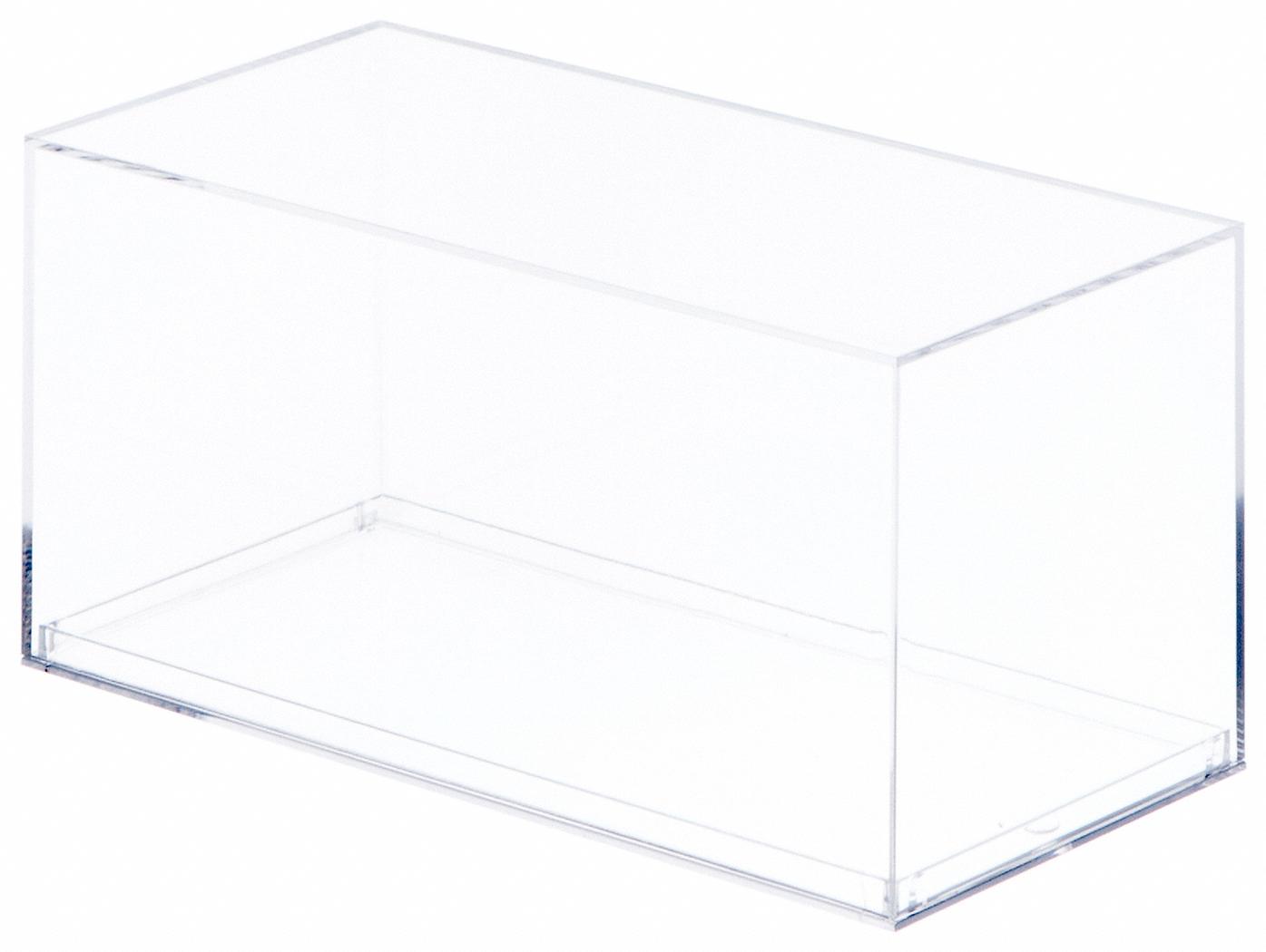 Pioneer Plastics Clear Acrylic Display Case with Beveled Edge 3.75 x 3.5 x 8